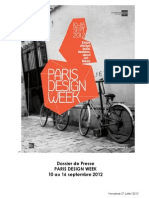 Paris Design Week 2012 - Dossier de Presse