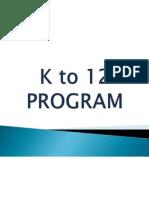 k to 12 Program