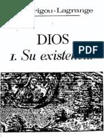 Dios-Su Existencia-Garrigou Lagrange