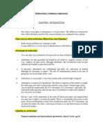 International Commercial Arbitration Outline