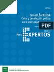 Crisis y Desafección Política en la Encrucijada Andaluza