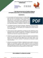 Comunicado Dia de Los Pueblos Indigenas CONAVIGUA