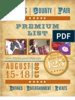Douglas County Fair Premium List 2013