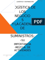 3.Logistica de Los Negocios y Cadena de Suministros. Su Importancia y Mezcla de Actividades