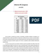 Informe IPC Julio
