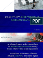 Case Study- Rob Parson at Morgan Stanley