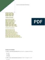 Exercícios de divisão de Polinômios