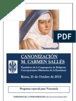 Canonización-Itinerario