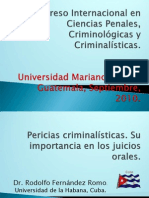 Pericias Criminalisticas DR RODOLFO
