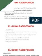 GUION RADIOFÓNICO