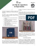 Banco Fijo de Capacitores en Bt