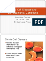 Sickle Cell Disease and Developmental Conditions