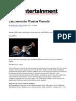 Jazz Musician Wynton Marsalis - Time Magazine - William Lee Adams