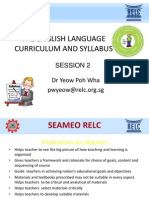 Language Curriculum Ppt