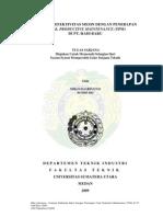 EVALUASI EFEKTIVITAS MESIN DENGAN PENERAPAN TOTAL PRODUCTIVE MAINTENANCE (TPM) DI PT. HADI BARU