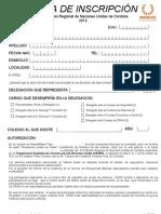 Ficha de inscripción MNUR 2012 - delegado