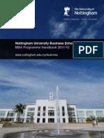 Nubs Mba Handbook