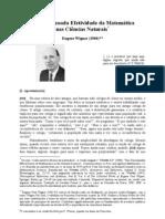 A DESARRAZOADA EFETIVIDADE DA MATEMÁTICA NAS CIÊNCIAS NATURAIS (Eugene P. Wigner)