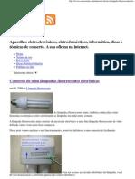 Conserto de Lâmpadas fluorescentes eletrônicas