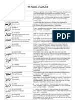 99 Name of Allah With Benefits