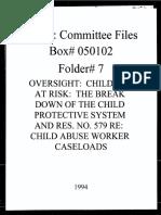 Box 050102, Folder 7, Oversight-Children at Risk