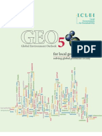 Global Environment Outlook 5 for Local Government