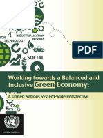 Working towards a Balanced and Inclusive Green Economy