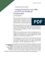 Spending vs Tax Cuts