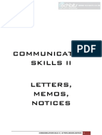 Communication Skills II - Letters,Memo,Notices