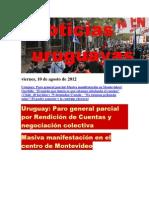 Noticias Uruguayas Viernes 10 de Agosto Del 2012
