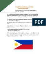 The Philippine National Anthem