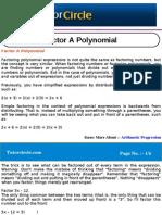 Factor a Polynomial