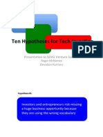 2012 Ten Hypotheses for Tech Investing
