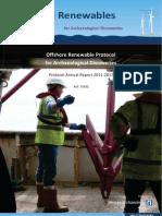Offshore Renewables Protocol - Annual Report 2011-2012
