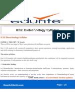 ICSE Biotechnology Syllabus