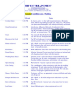 FHPEntertainment Wedding Sample Itinerary
