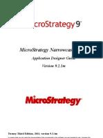 Microstrategy Narrow Cast Application Designer 921m
