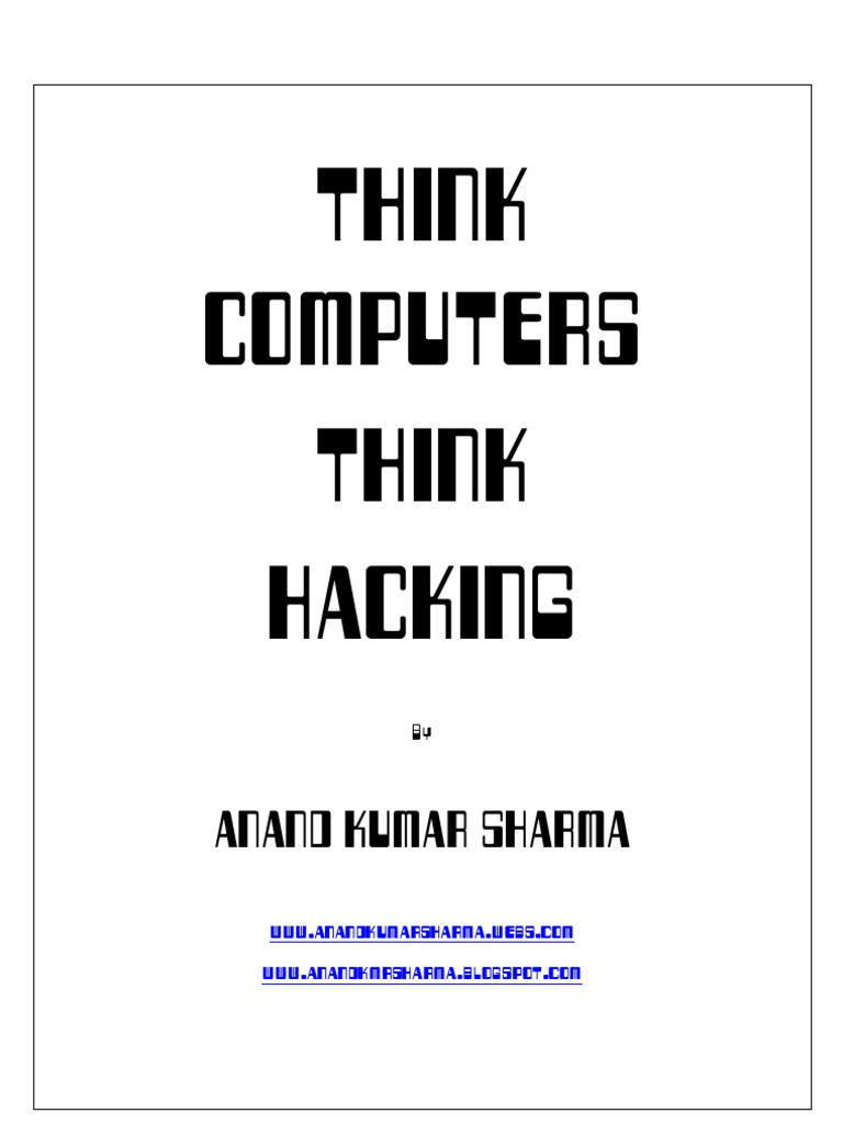 Think Computers Think Hacking | Password | Email