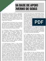NOTA DA BASE DE APOIO AO GOVERNO DE GOIÁS