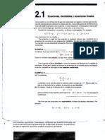 0f1cap 2 Ecuaciones, Identidades y Ecuaciones Lineales