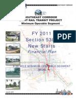 Metro FY 2011 Financial Plan Southeast/Purple Line