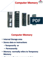 Basics of Computer Memory
