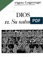 Dios-Su Naturaleza-Garrigou Lagrange
