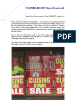 DIMMEYS - 'CLOSING DOWN' Signs Removed