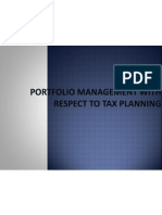 Portfolio Management With Respect to Tax Planning (1)