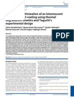 Design and optimization of an intumescent flame retardant coating using thermal degradation kinetics and Taguchi's experimental design