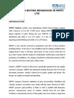A Study on Buying Behaviour in Mmtc Ltd