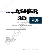 Slasher 3d Casting - Alex Hicks - Lead 3