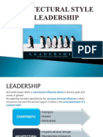 Architectural Style of Leadership