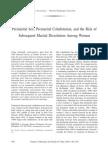 Premarital Sex, Premarital Cohabitation, And the Risk of Subsequent Marital Dissolution Among Women